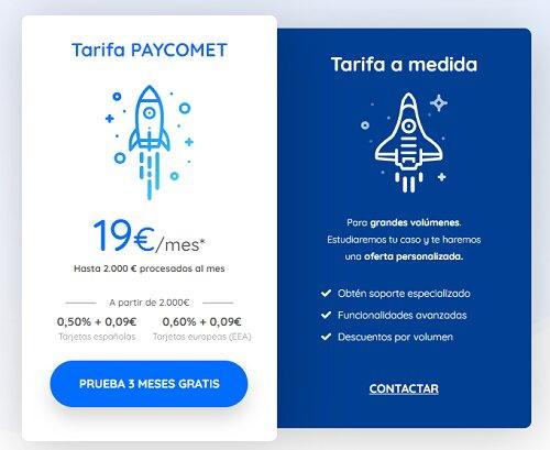 tarifas de paycomet la mejor pasarela de pagos