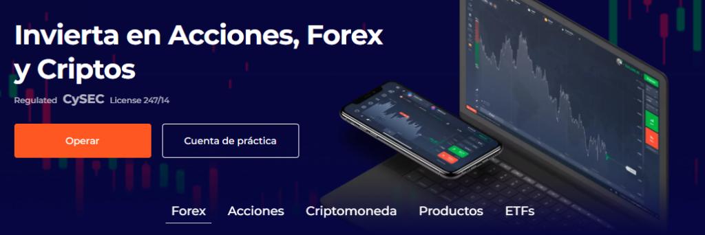 Invierta en acciones, Forex y criptos con IQ Option