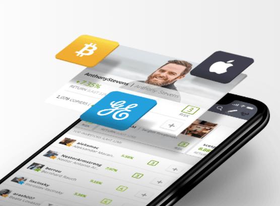 La plataforma de eToro es accesible también desde smartphone