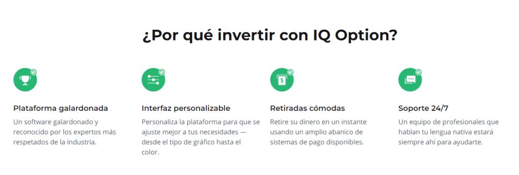 Razones para invertir con IQ Option