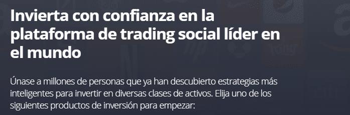 El trading social es la característica principal de eToro