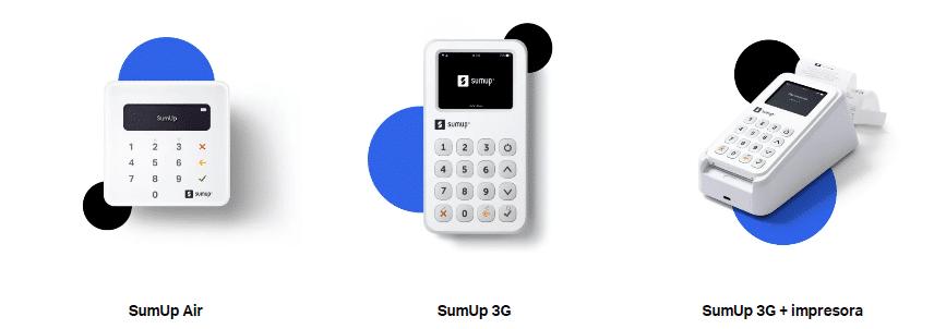 SumUp ofrece distintos modelos de datáfono.
