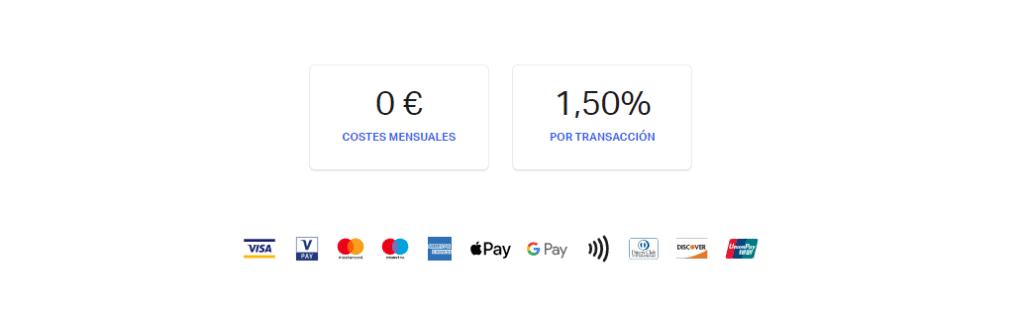Tarifas de SumUp: 1,50% por transacción